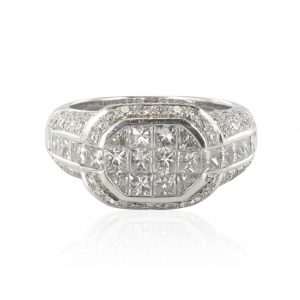 Bague diamants princesses.