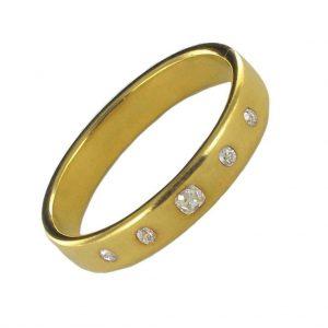 Bracelet jonc diamants - Début du 19ème siècle.
