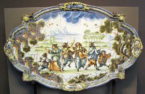 Revêtement mural en faïence polychrome. Giuseppe Valente. 18 ième siècle