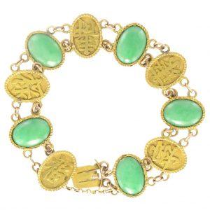 Bracelet jade et or.