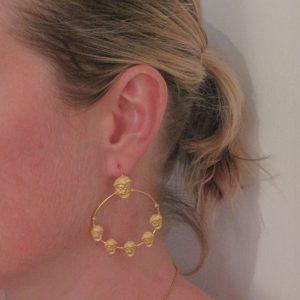 Boucles d'oreilles créoles masques.
